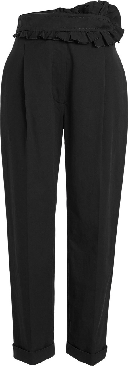 Carven Cotton Pants with Ruffled Waist