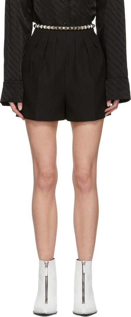Alexander Wang Black Studded Pleated Shorts