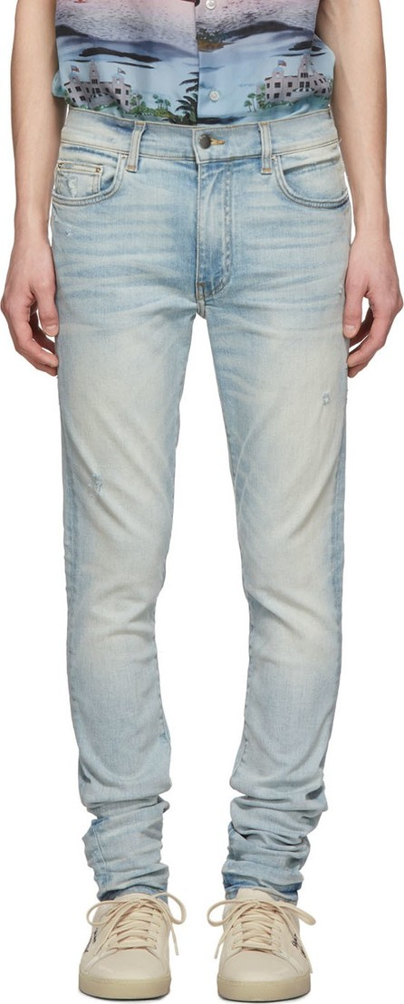 Amiri Indigo Light Stack Jeans