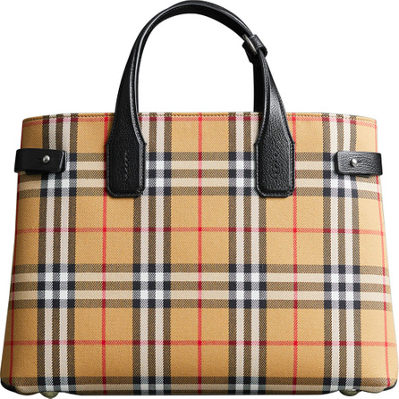 Burberry London England Vintage Check Medium Banner Tote Bag
