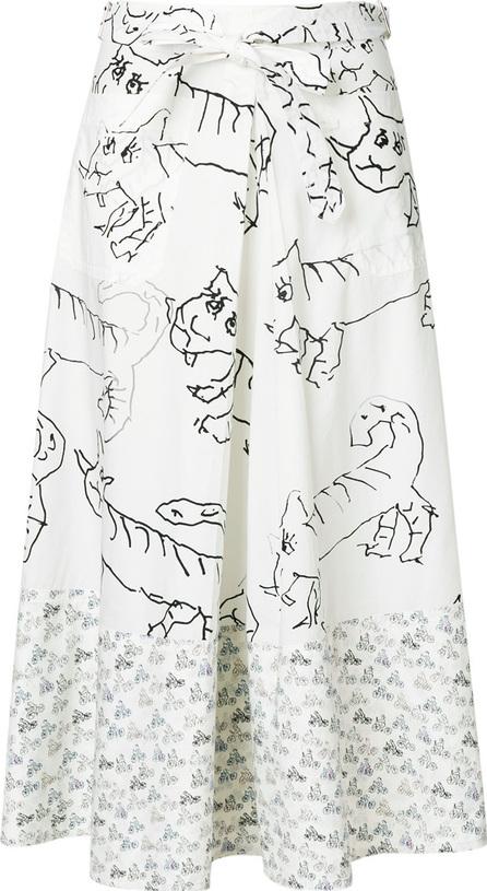 Marni Drawing print skirt