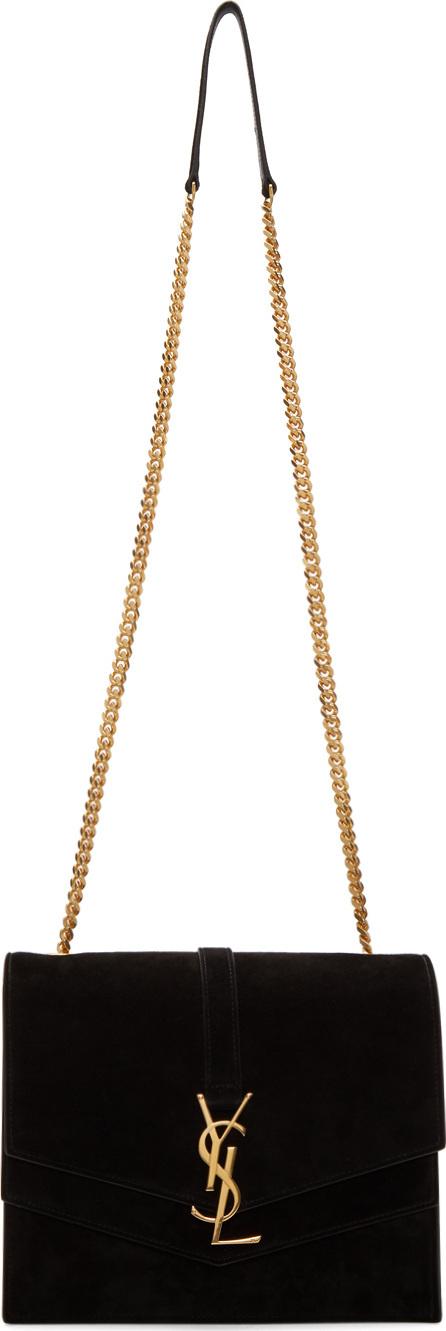 Saint Laurent Black Medium Sulpice Monogram Chain Bag
