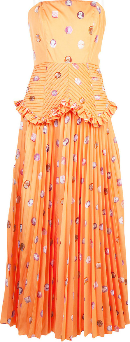Patterned pleated detail dress