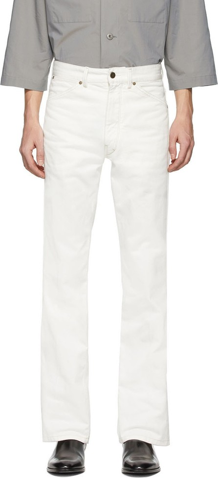 Lemaire Off-White Denim Bootcut Jeans