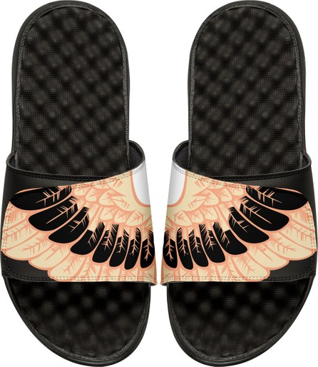 ISlide Men's Wing-Print Slide Sandals, Black