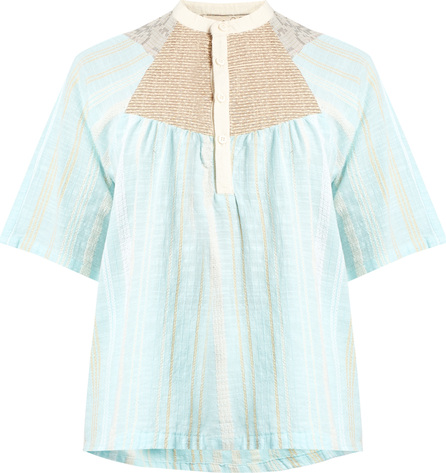 ace&jig Bronte striped woven-cotton top