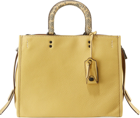 COACH 1941 Rogue Glove-Tan Leather Tote Bag with Exotic Handles