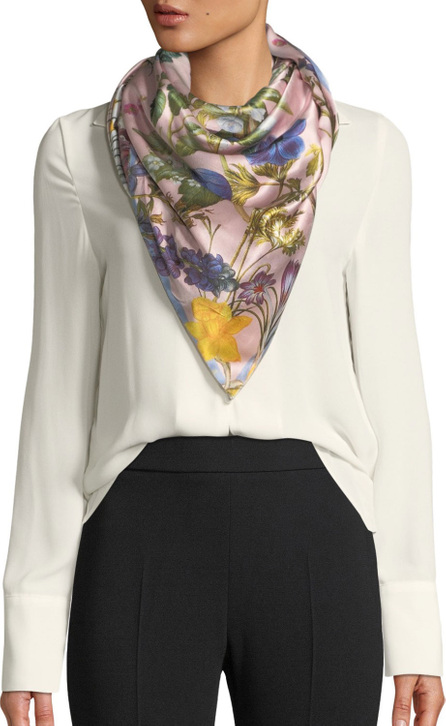 St. Piece Isabella Double-Sided Silk Floral Scarf