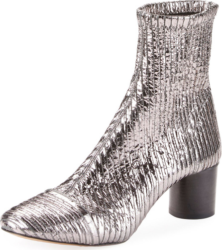 Isabel Marant Datsy Crackled Pleated Bootie