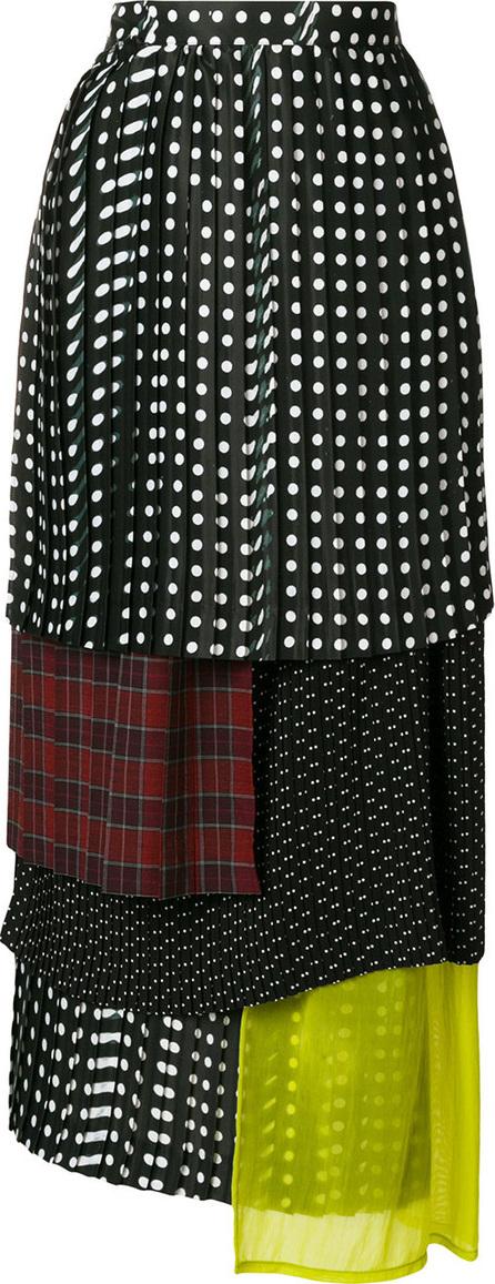 FACETASM Polka dot layered skirt