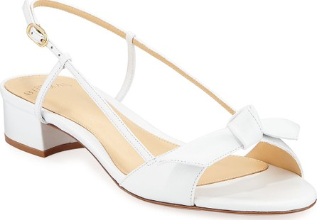 Alexandre Birman Clarita Slingback Low-Heel Bow Sandals