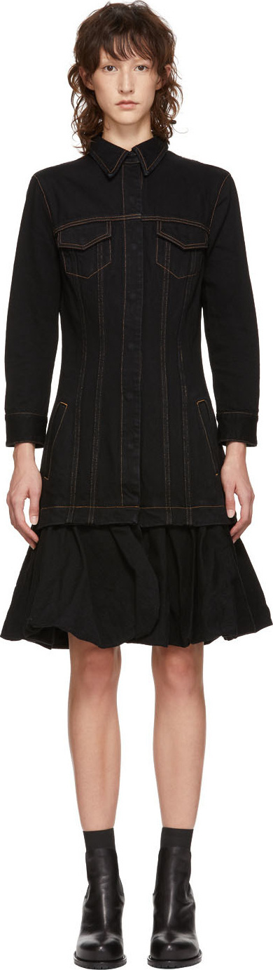 Marques'Almeida Black Denim Jacket Dress