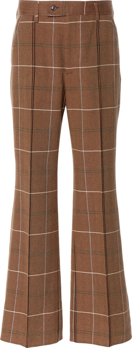 Acne Studios Patsyne Checked Wool Flared Trousers