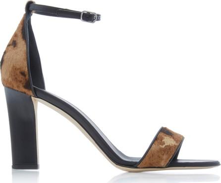 Victoria Beckham Anna Leopard Print Leather Sandals