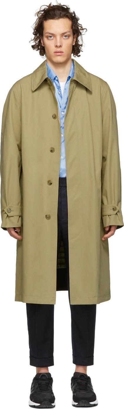 AMI Beige Mac Trench Coat