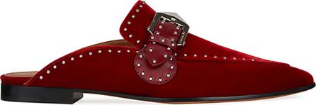 Givenchy Elegant Studded Velvet Loafer Mule