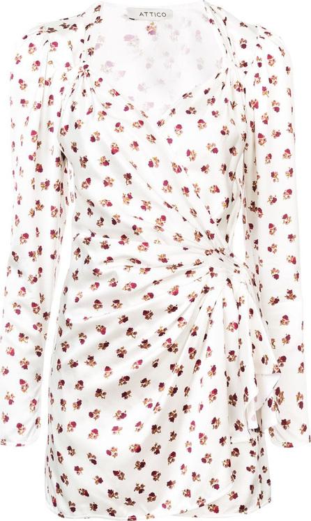 Attico Wrap front floral dress