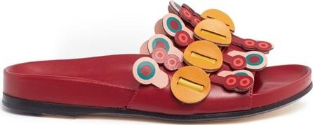 Anya Hindmarch 'Flip' geometric circus leather slide sandals
