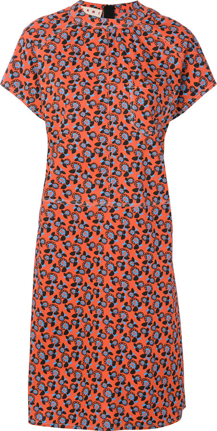 Marni Floral print short sleeve dress