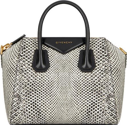 Givenchy Antigona Small Snakeskin Satchel Bag
