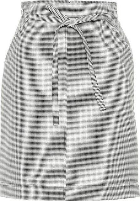 Alexachung Houndstooth wool-blend skirt