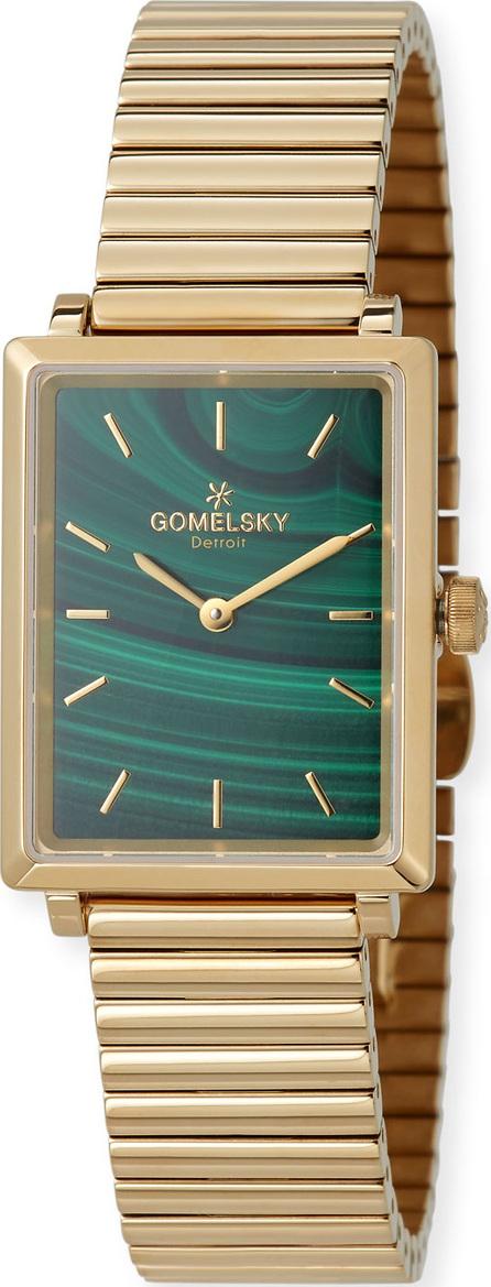 Gomelsky The Shirley 32mm Malachite Watch with Bracelet Strap