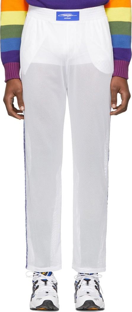 Anton Belinskiy White Mesh Logo Tape Lounge Pants