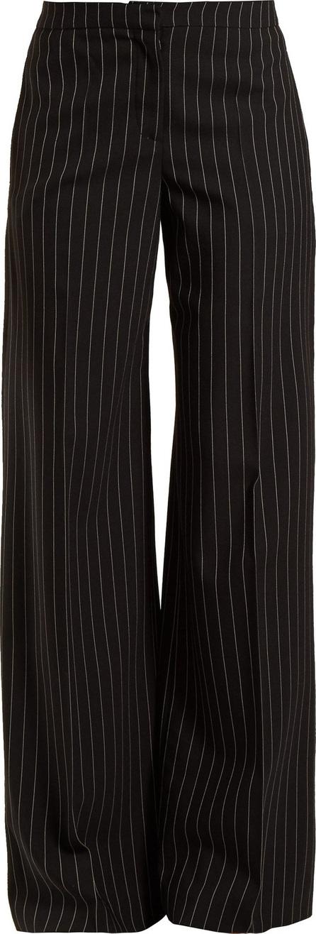 Alexander McQueen Pinstripe wool wide-leg trousers