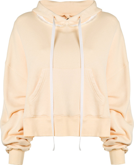 Ben Taverniti Unravel Project Cropped ribbed detail hoodie