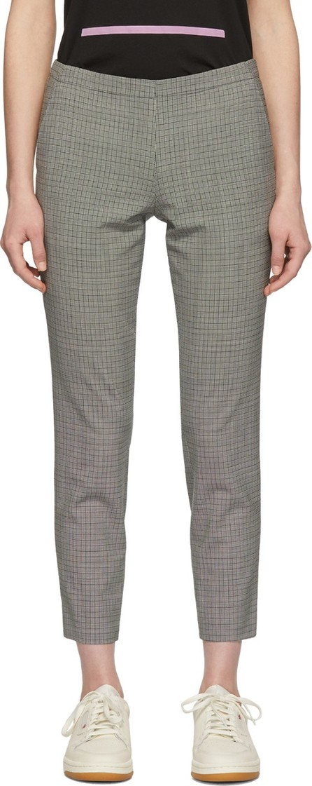 6397 Black & White Houndstooth Pull-On Trousers