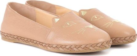 Charlotte Olympia Kitty leather espadrilles