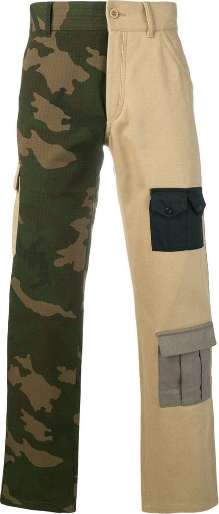 Gosha Rubchinskiy Bi-colour cargo trousers