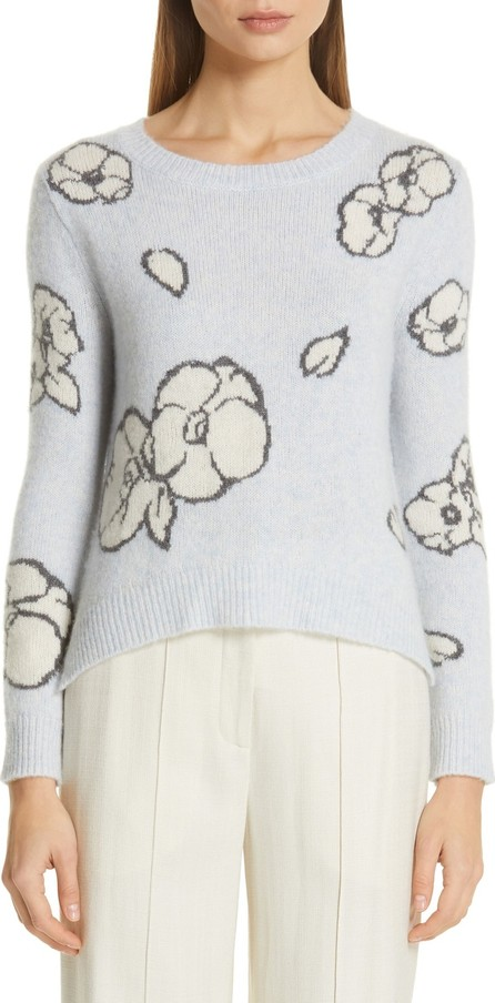 Adam Lippes Intarsia Brushed Cashmere & Silk Sweater