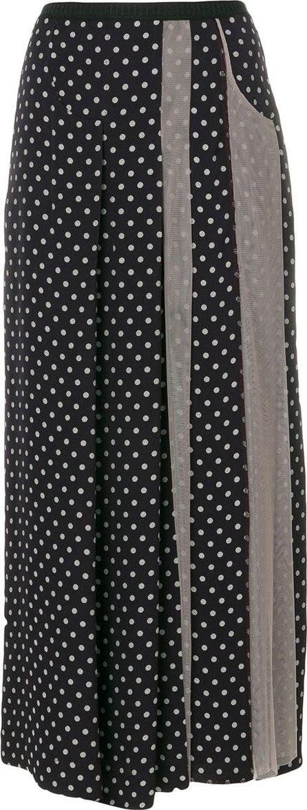 Antonio Marras tulle panel polka dot maxi skirt