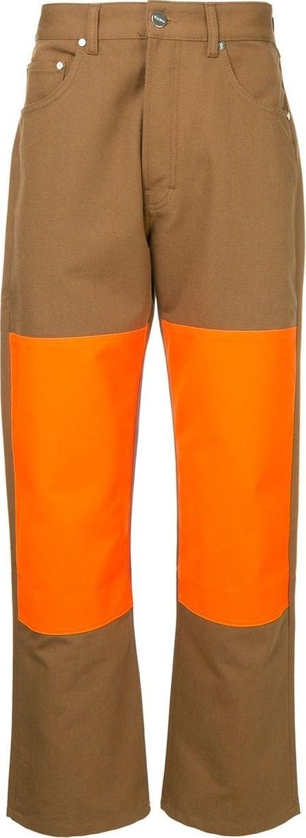 Etudes Contrast panel trousers