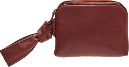 THE ROW Zip-Top Leather Wristlet Bag