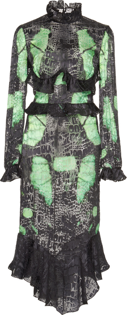 Francesco Scognamiglio Printed Ruffled Dress