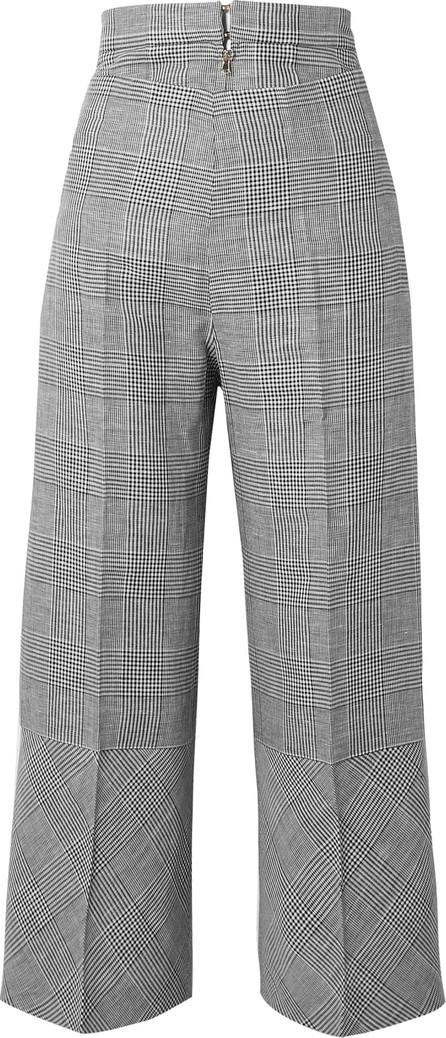 Antonio Berardi Cropped Prince of Wales checked wool-blend wide-leg pants