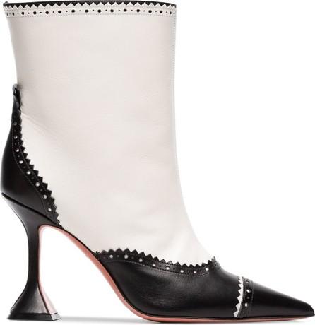 Amina Muaddi Charlie 95 dome heel leather boot