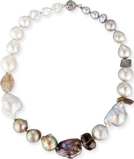 Stephen Dweck Baroque Pearl & Smoky Quartz Necklace