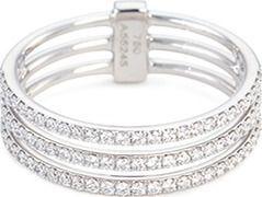 Messika 'Gatsby 3 Rows' diamond 18k white gold ring