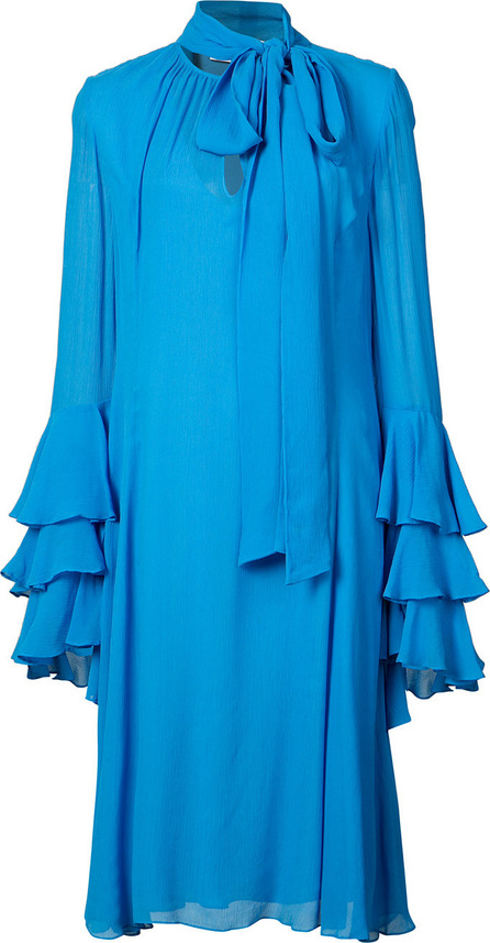Prabal Gurung Tie Neck Ruffle Cuff dress