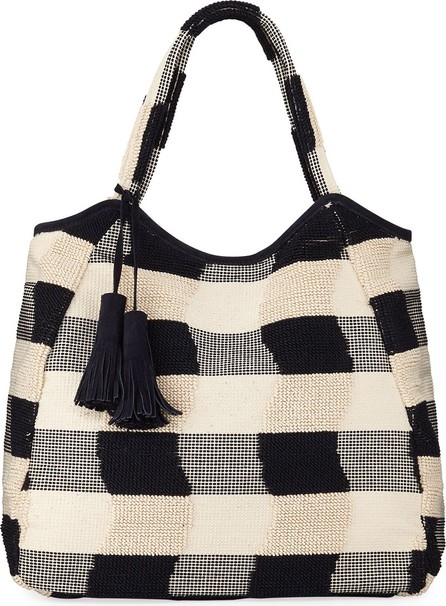 Casa Isota Emma Cotton Plaid Tote Bag