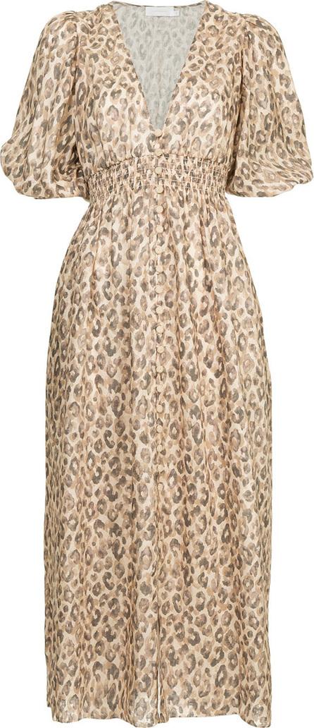Zimmermann Leopard print shirt dress
