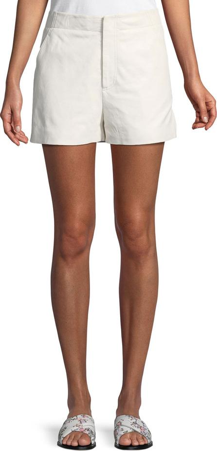 Joie Brusha Mid-Rise Leather Shorts