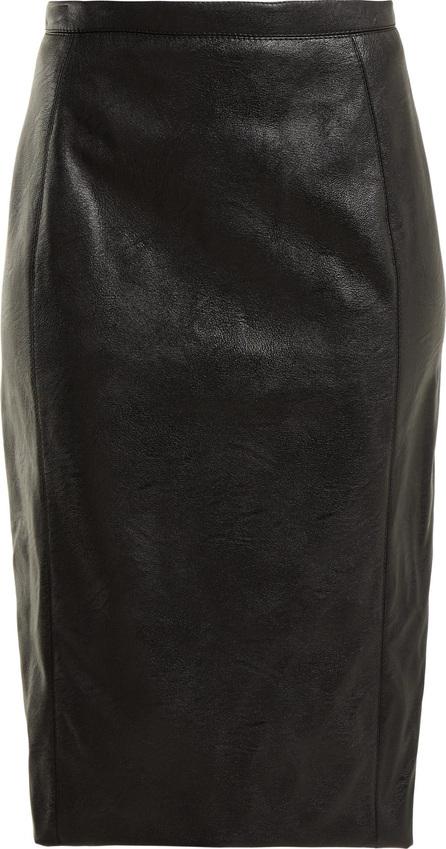Stella McCartney Faux-leather pencil skirt