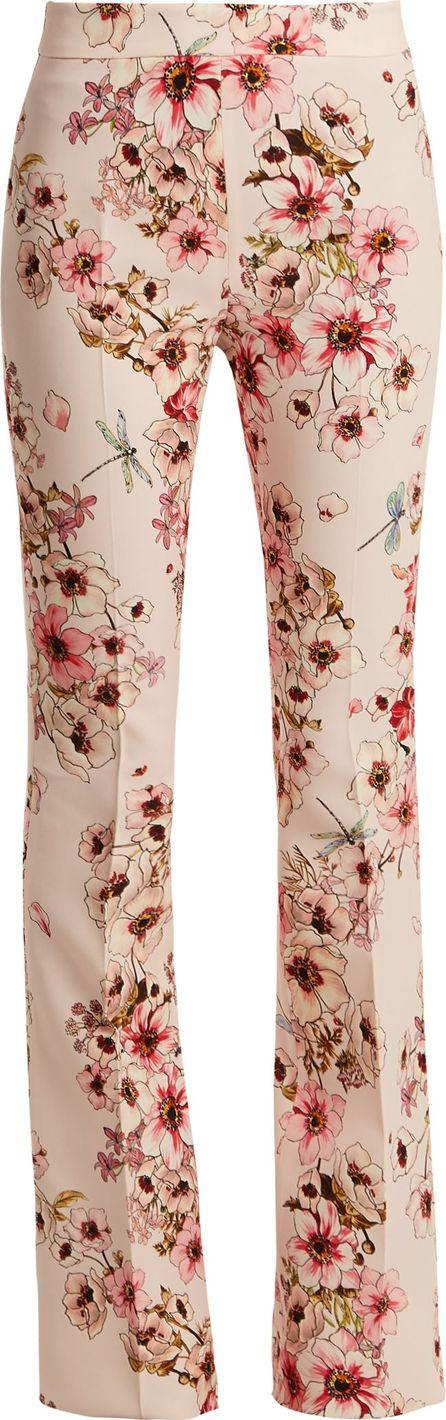 Giambattista Valli Anemone-print kick-flare silk-cady trousers