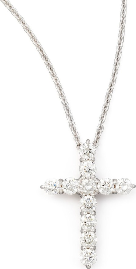 "Roberto Coin 18"" White Gold Diamond Cross Pendant Necklace, 1.44ct"