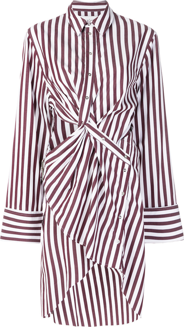 Marques'Almeida - Striped wrap shirt