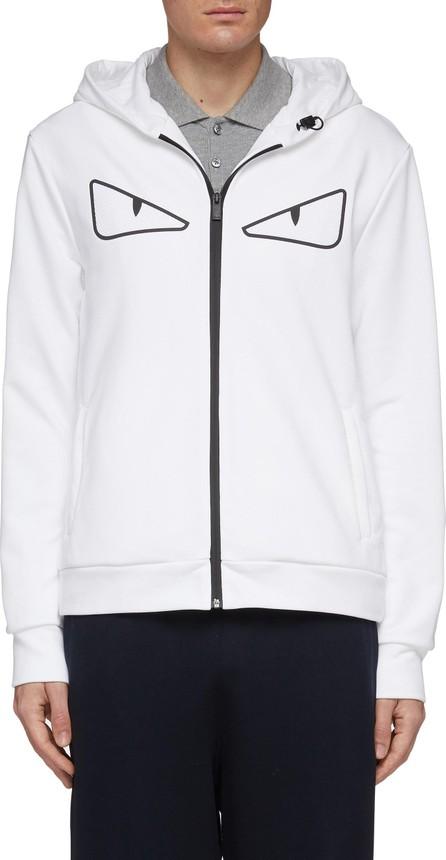 Fendi 'Bag Bugs' mesh appliqué zip hoodie